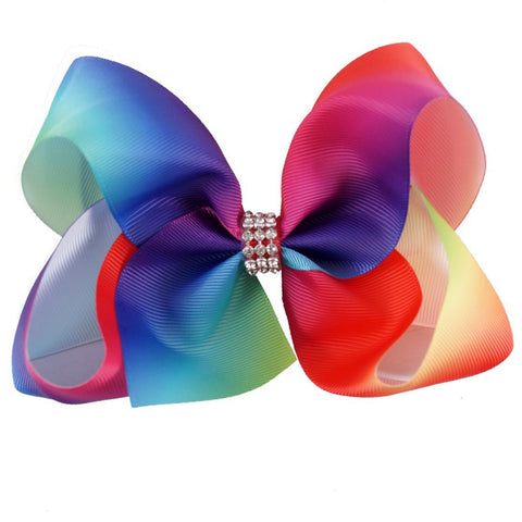 Rainbow Ombre Big Boutique Bow Clip