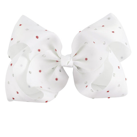 Pastel Rhinestone Big Boutique Bow Clip