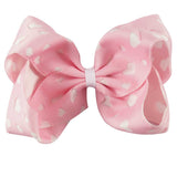 Heart Cut-out Big Bow Clip