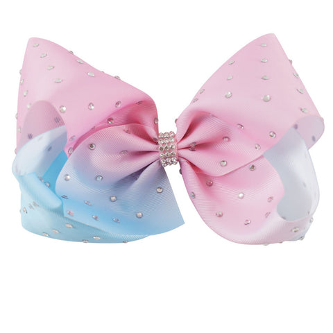 Pink and Blue Ombre Big Bow Clip