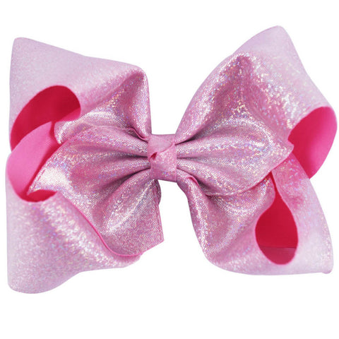 Leatherette Sparkle Big Boutique Bow Clip