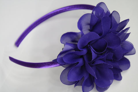 Big Flower Headband. Asstd Colours.