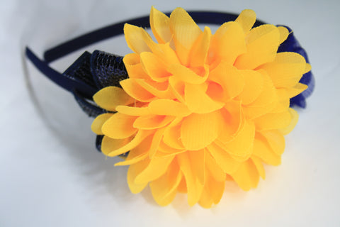 3-Piece Flower Headband. Asst Colours