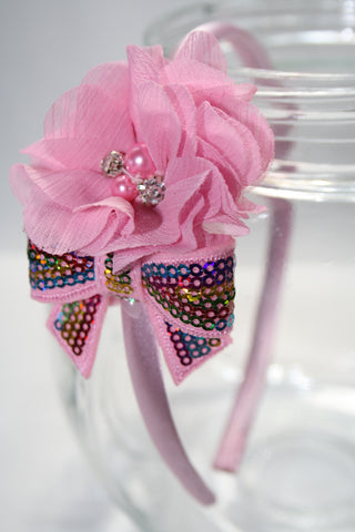 2-Piece Flower Headband. Asst Colours