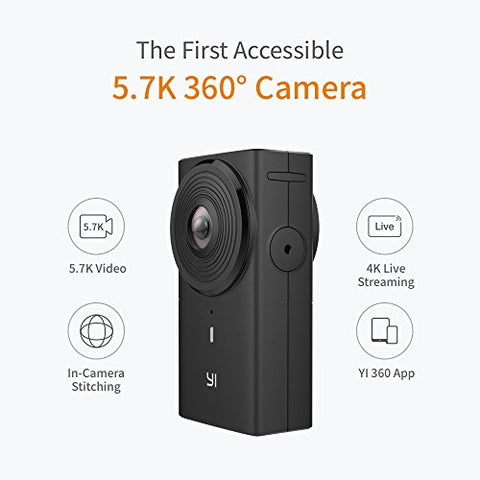YI 360 VR Camera Dual-Lens 5.7K HI Resolution Panoramic Camera (31% OFF at $274.99* using code VRMAAZTA)