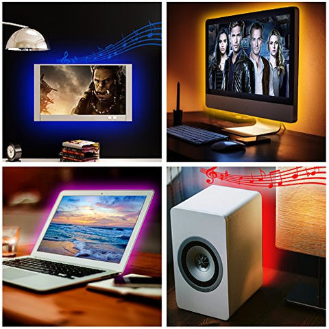"USB LED Strip Lights Sync to Music (Message us ""Light strip"" to get your 50% OFF code)"