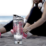 Stylish Stainless Steel (Trim) Electric Shaker Bottle