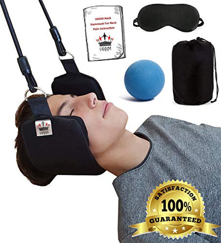 "Neck Hammock for Neck Pain Relief + Free Eye Mask + Free Massage Ball (Message us ""relief"" to get the discount code)"