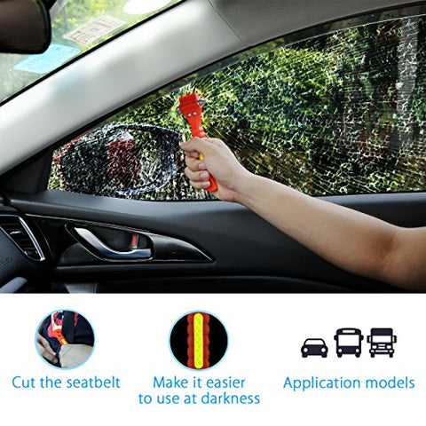 Emergency Escape Tool with Car Window Breaker