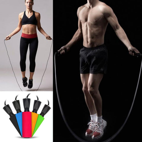 Adjustable Fitness Training Speed Skipping Rope, Steel Wire