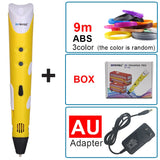 Magic 3D Creativity Pen Drawing 3D Printing Pen With 1.75mm ABS Filaments