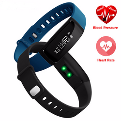 Bluetooth Smartband Heart Rate Blood Pressure Monitor Smart Watch Waterproof For IOS & Android