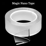1, 3 or 5m Waterproof Reusable Double Sided Magic Nano Silicone Gel Tape