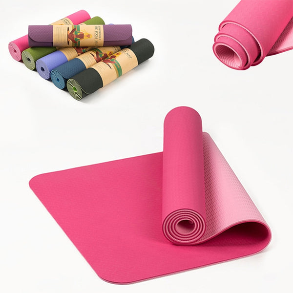 Comfy TPE Non-slip Multi color Yoga Mat