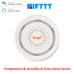 Wireless WiFi Siren with Alarm Sensor for Temperature & Humidity