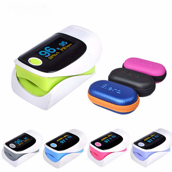 SPO2 Finger Digital Blood Oximeter and Hartrate Monitor, with OLED Display and Carrying case