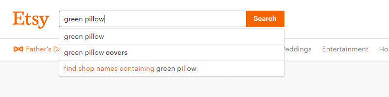green pillow search on etsy