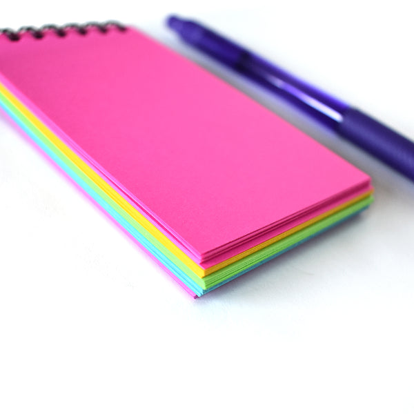 Neon Rainbow Mini Notepad