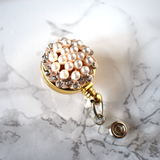 Pearl Wreath Badge Reel