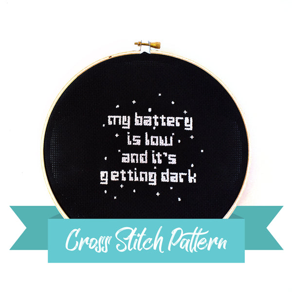 Opportunity Rover Cross Stitch Pattern