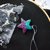 Glitter Galaxy Star Needle Minder
