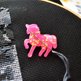 Pink Unicorn Needle Minder