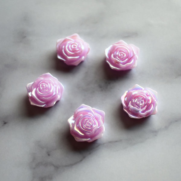 Iridescent Rose Magnets