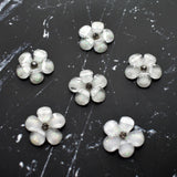 Iridescent White Flower Magnets