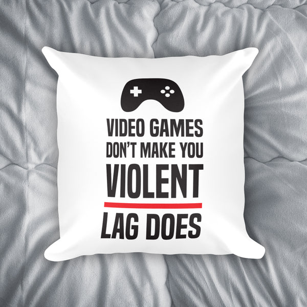 Video Game Violence Throw Pillow