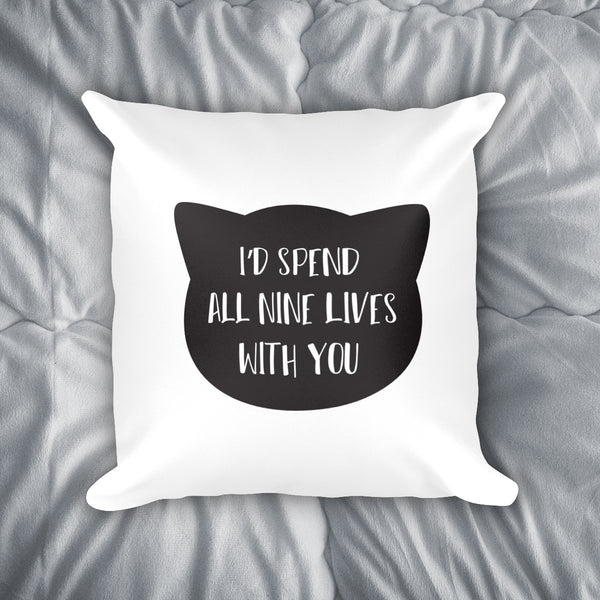 All Nine Lives Throw Pillow