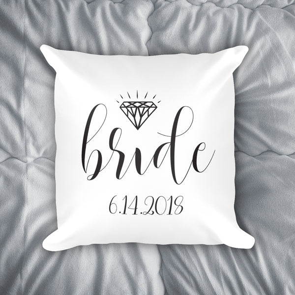 Personalized Bride Throw Pillow