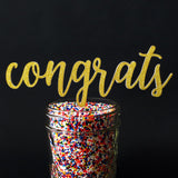 Cake Toppers - Congrats Cake Topper