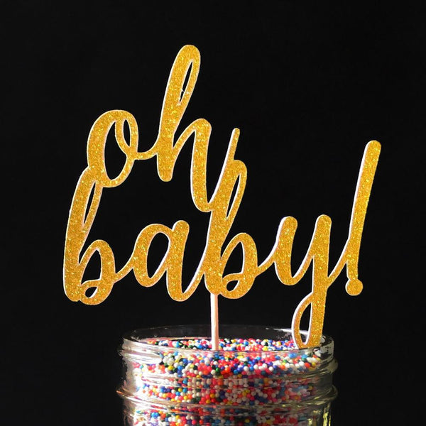 Cake Toppers - Oh Baby! Cake Topper
