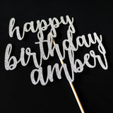 Cake Toppers - Personalized Happy Birthday Cake Topper