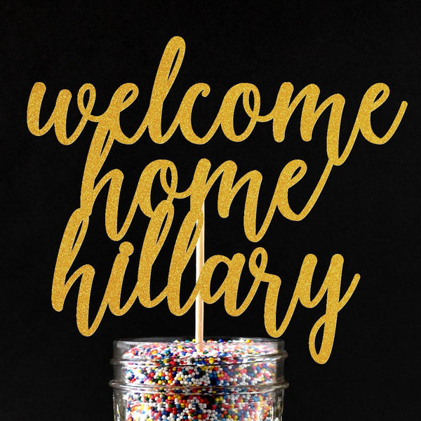 Cake Toppers - Personalized Welcome Home Cake Topper