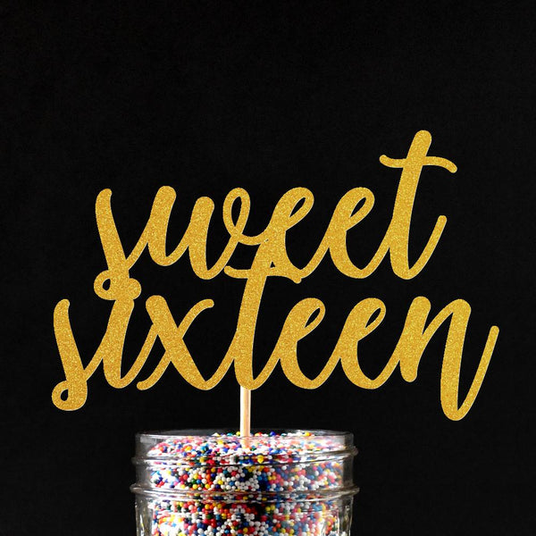 Cake Toppers - Sweet Sixteen Cake Topper