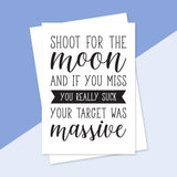 Shoot For The Moon Greeting Card