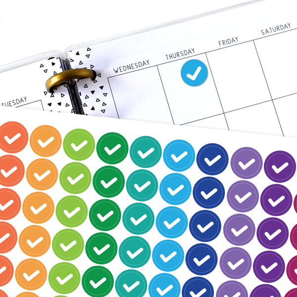 Check Mark Circle Planner Stickers