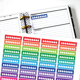 Water Tracker Skinny Planner Stickers