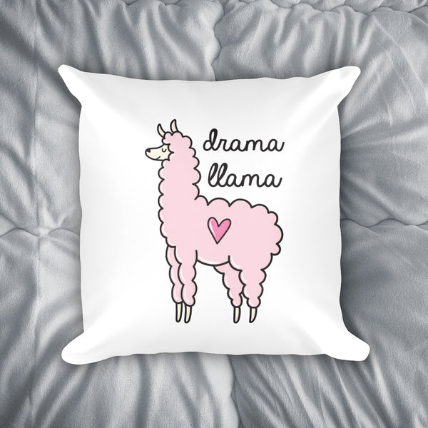 Drama Llama Throw Pillow