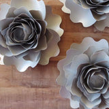 Flowers & Plants - Gold And Silver Paper Peonies