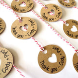 Gift Tags - Thank You Circle Gift Tags