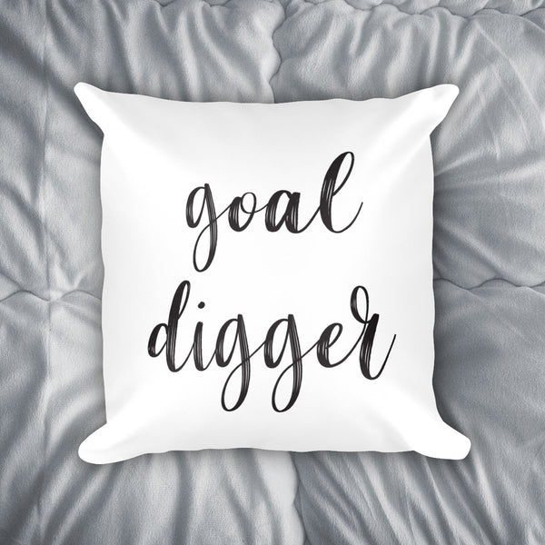 Goal Digger Throw Pillow