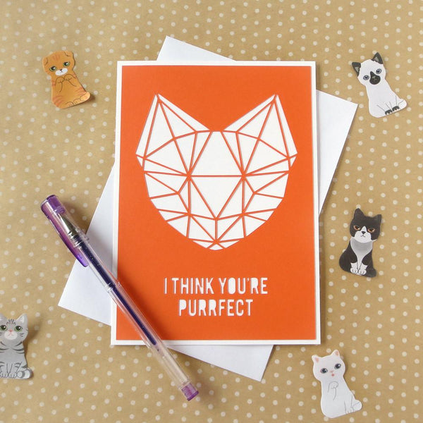 Greeting Cards - I Think You're Purrfect Card
