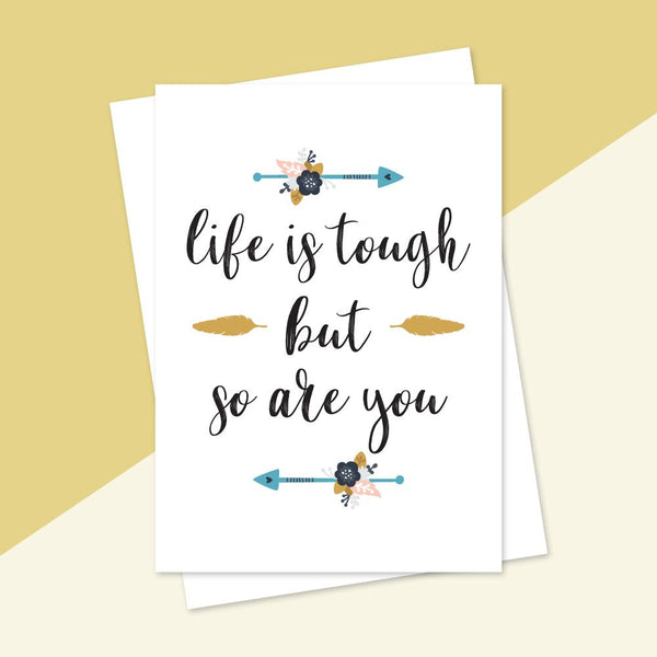 Greeting Cards - Life Is Tough Greeting Card