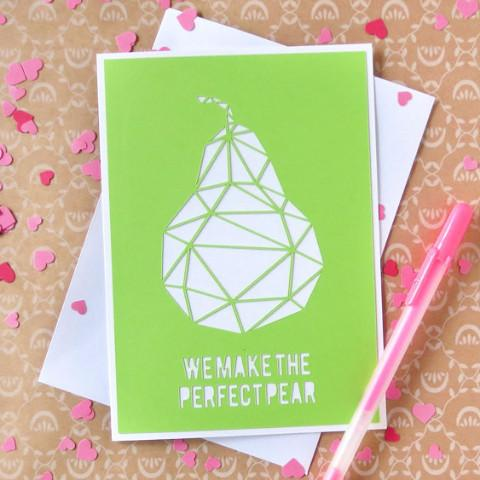 Greeting Cards - We Make The Perfect Pear Card