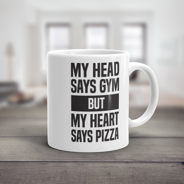 My Heart Says Pizza Mug