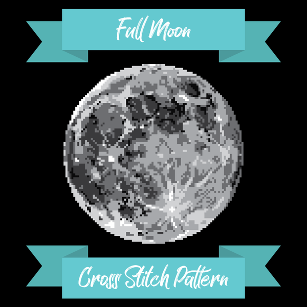 Full Moon Cross Stitch Pattern