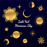 Gold Foil Moroccan Sky