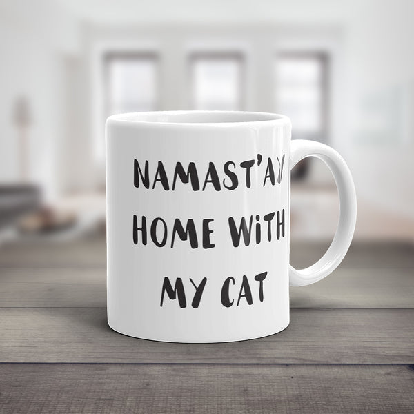 Namast'ay With My Cat Mug